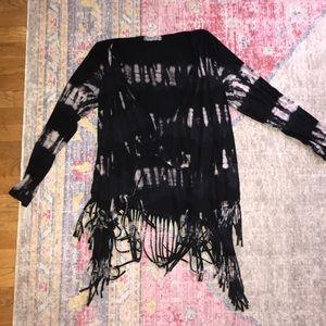 The-dye fringe sweater